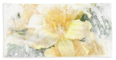Yellow Daylily Beach Towel