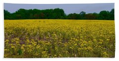 Yellow Field Beach Towel by Tim Good