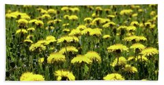 Yellow Field Two  Beach Towel by Lyle Crump