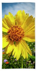 Yellow Flower Beach Towel