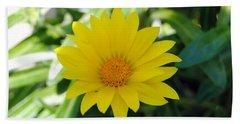 Yellow Flower Beach Sheet by Isam Awad