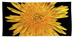 Yellow Flower Macro Beach Towel