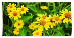 Yellow Flowers No. 2 Beach Sheet