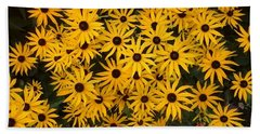 Yellow Flowers Beach Sheet