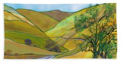 Yellow Foothills Beach Towel