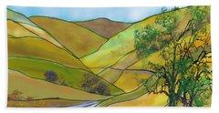 Yellow Foothills Beach Towel