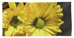 Yellow Gerbera Beach Towel
