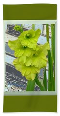 Yellow Gladiolas Beach Towel