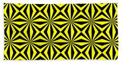 Beach Towel featuring the digital art Yellow Happiness by Lucia Sirna