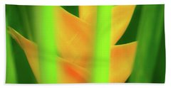 Beach Towel featuring the photograph Yellow Heliconia - Tropical Hawaii - 957 by D Davila