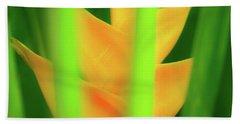 Yellow Heliconia - Tropical Hawaii - 957 Beach Towel