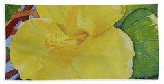 Yellow Hibiscus Beach Sheet