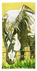 Yellow Horse Beach Towel