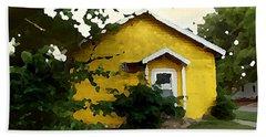 Yellow House In Shantytown  Beach Towel