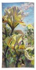 Yellow Iris Beach Sheet