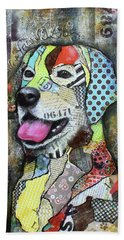 Yellow Lab Beach Towel
