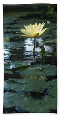 Yellow Lilly Tranquility Beach Towel