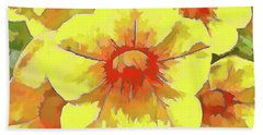 Yellow Million Bells Beach Towel