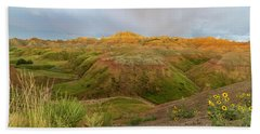 Yellow Mounds Morning Beach Towel