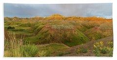 Yellow Mounds Morning Beach Sheet