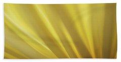 Yellow Mum Petals Beach Towel