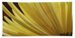Yellow Mum Petals Beach Sheet