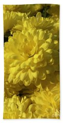 Yellow Mums Beach Towel