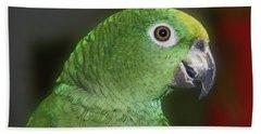 Yellow Naped Amazon Parrot Beach Towel