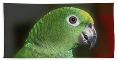 Yellow Naped Amazon Parrot Beach Towel