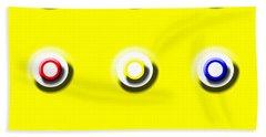 Yellow Nine Squared Beach Sheet