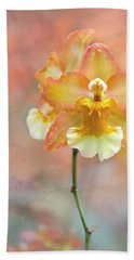 Beach Towel featuring the photograph Yellow Orchid by Ann Bridges