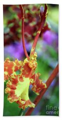 Yellow Orchid Beach Towel