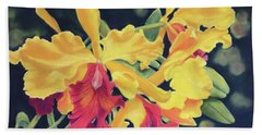 Yellow Orchids Beach Sheet