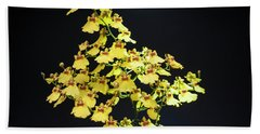 Yellow Orchids Beach Towel by Lana Enderle
