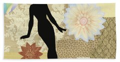 Yellow Paper Doll Beach Towel