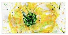 Yellow Pepper Beach Sheet by Arleana Holtzmann