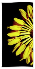 Yellow Petals Beach Towel