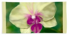 Yellow Phalenopsis Beach Towel