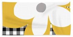 Yellow Picnic Flower- Art By Linda Woods Beach Towel