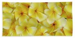 Yellow Plumerias Beach Sheet