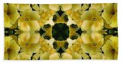 Yellow Primrose Kaleidoscope Beach Sheet