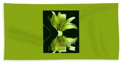 Beach Towel featuring the photograph Yellow Reflection by Barbara S Nickerson