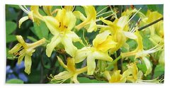 Beach Sheet featuring the photograph Yellow Rhododendron by Carla Parris