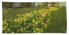 Yellow River To My Door Beach Towel by LemonArt Photography