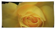 Yellow Rose Garden Two Beach Sheet