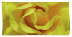 Yellow Rose Beach Towel by Jocelyn Kahawai