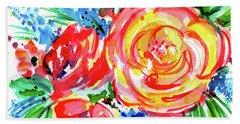 Yellow Rose Red Beach Sheet