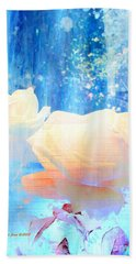 Beach Towel featuring the photograph Yellow Roses By The Bridge by Annie Zeno