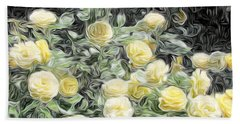 Yellow Roses Beach Sheet