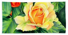 Yellow Roses Beach Towel